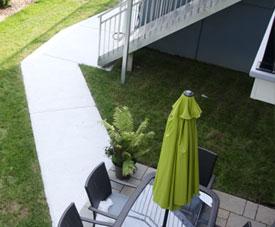 Exemple d'une terrasse d'une habitation dans le projet Pointe-Est, à Pointe-aux-Trembles.