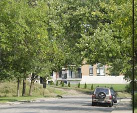 Le quartier du projet Pointe-Est, à Pointe-aux-Trembles.