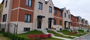 Maisons de ville du projet Pointe-Est Montréal